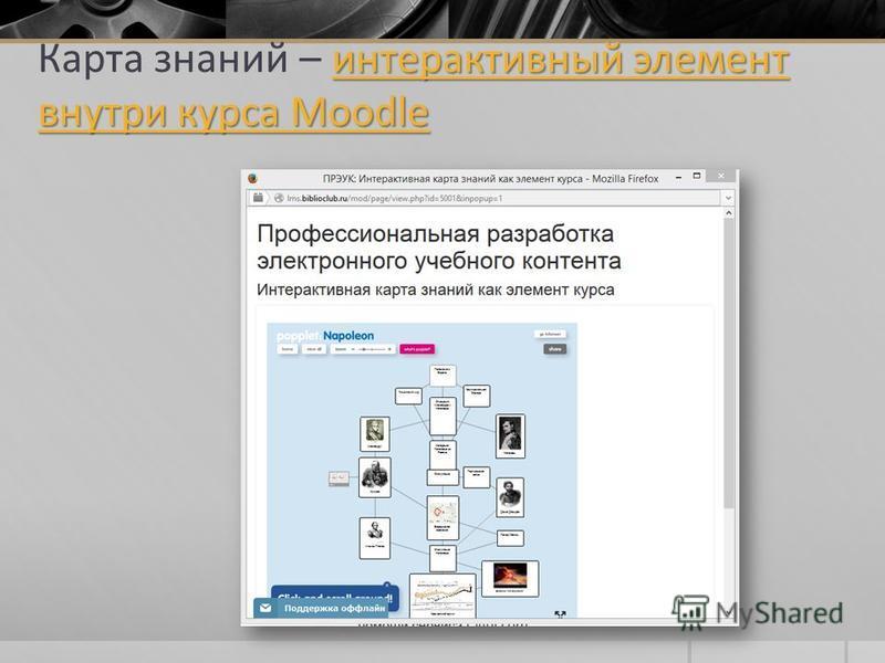интерактивный элемент внутри курса Moodle интерактивный элемент внутри курса Moodle Карта знаний – интерактивный элемент внутри курса Moodleинтерактивный элемент внутри курса Moodle