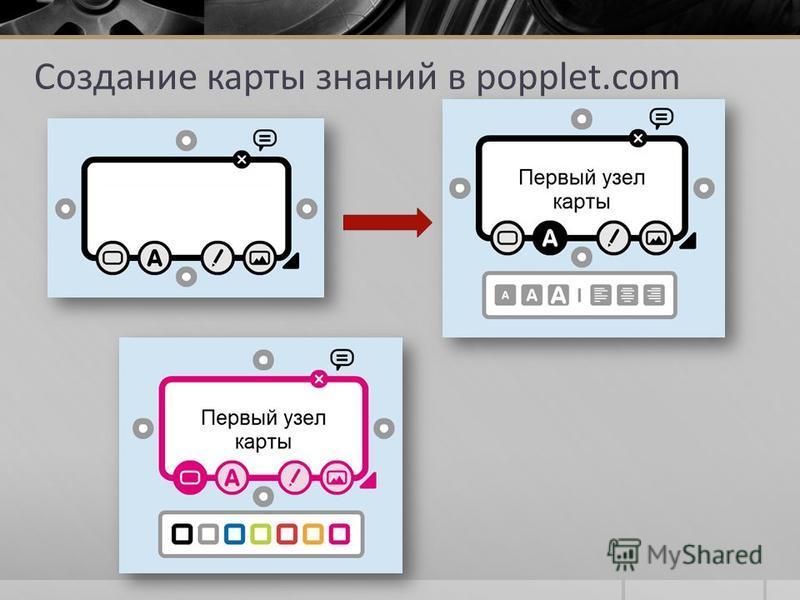 Создание карты знаний в popplet.com