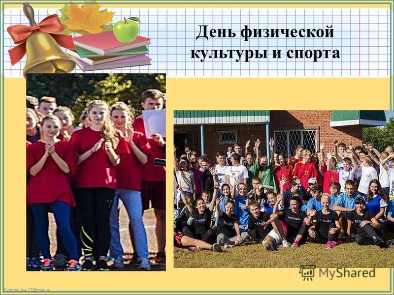 FokinaLida.75@mail.ru День физической культуры и спорта
