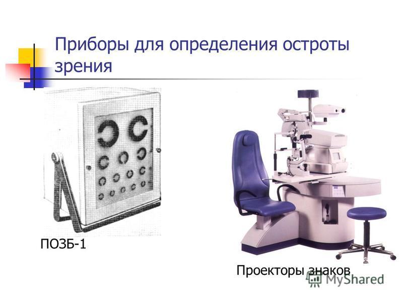 Приборы для определения остроты зрения ПОЗБ-1 Проекторы знаков