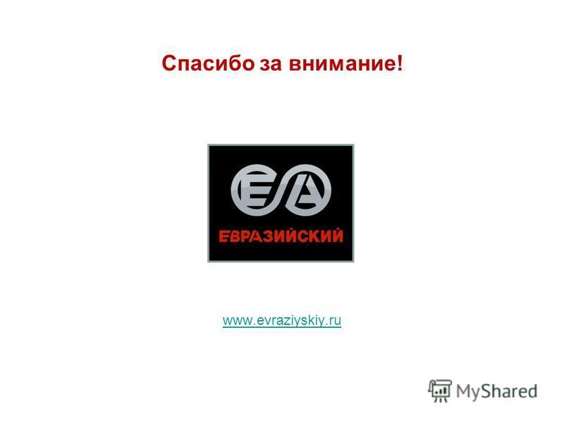 www.evraziyskiy.ru Спасибо за внимание!