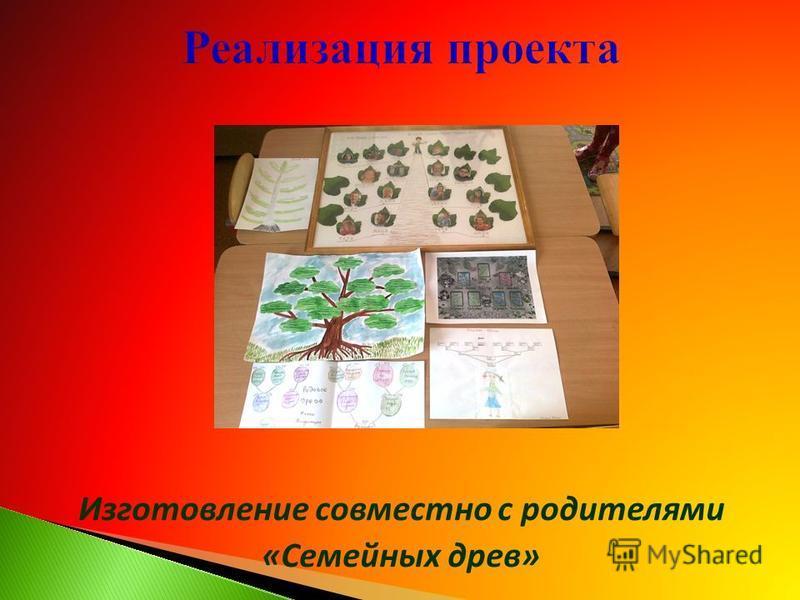 Изготовление совместно с родителями «Семейных древ»