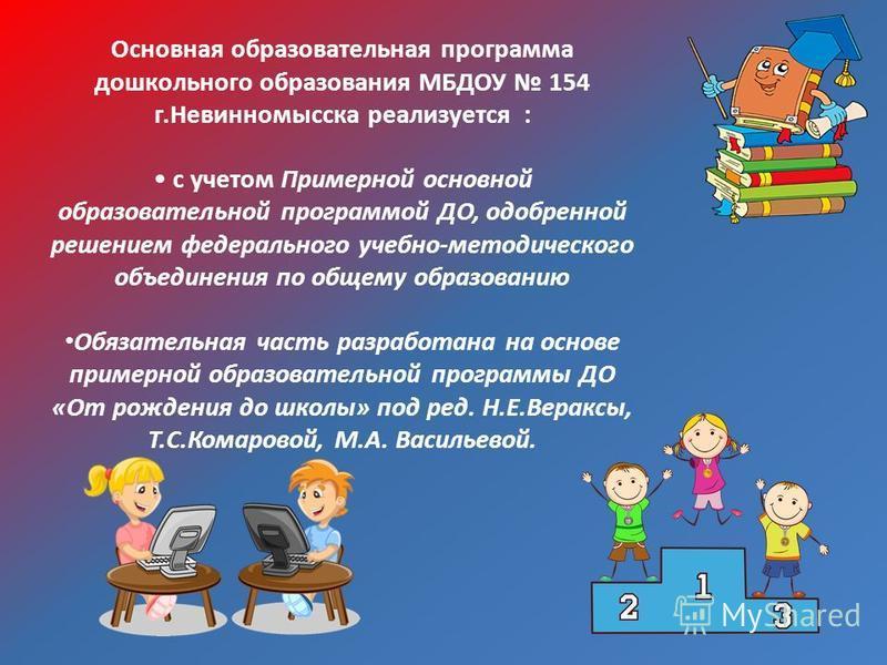 Краткая презентация Основной Образовательной Программы ДО МБДОУ 154 г.Невинномысска