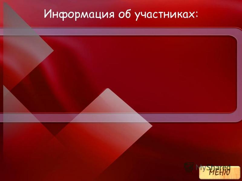 Информация об участниках: МЕНЮ