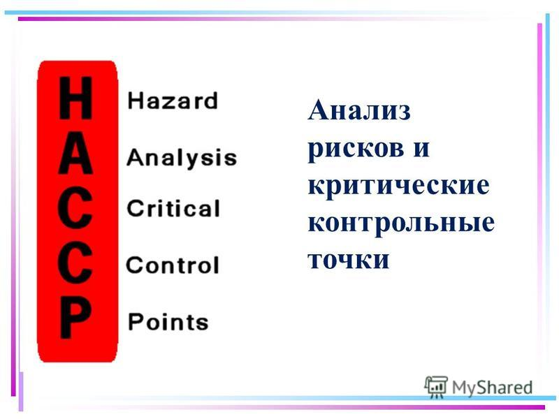 Анализ рисков и критические контрольные точки