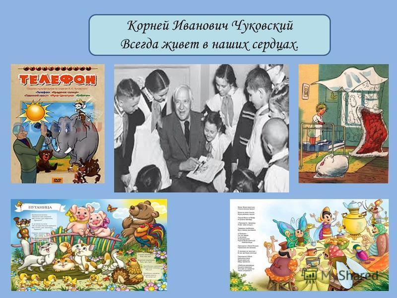 Корней Иванович Чуковский Всегда живет в наших сердцах.