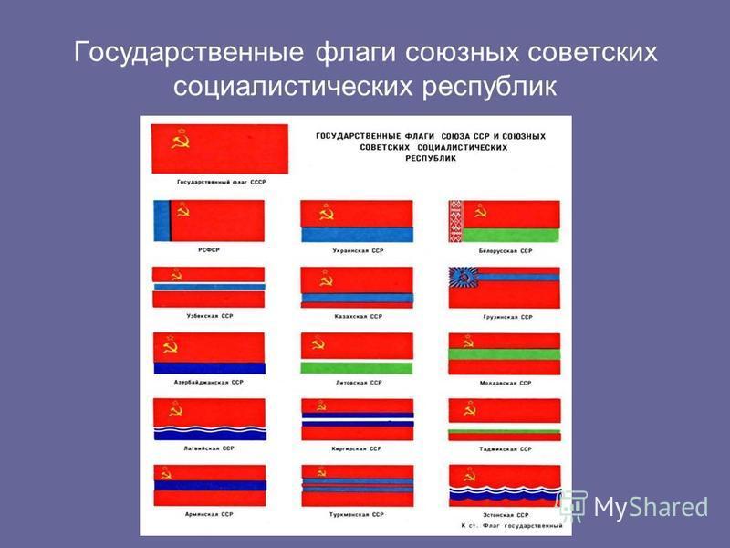 Государственные флаги союзных советских социалистических республик