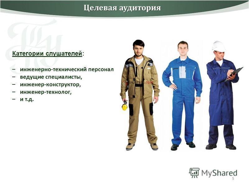 5 Целевая аудитория Категории слушателей: –инженерно-технический персонал –ведущие специалисты, –инженер-конструктор, –инженер-технолог, –и т.д.