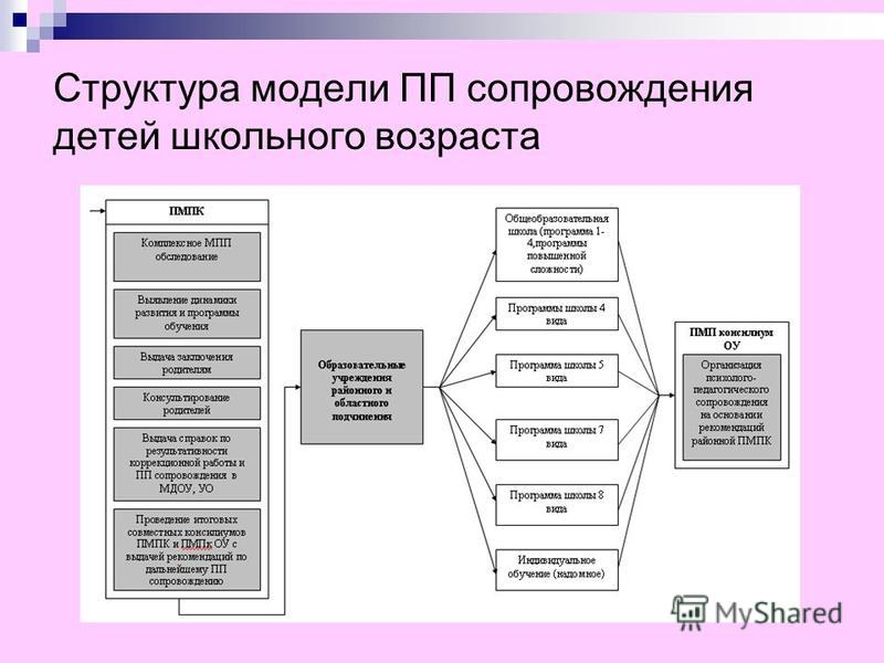 Структура модели ПП сопровождения детей школьного возраста