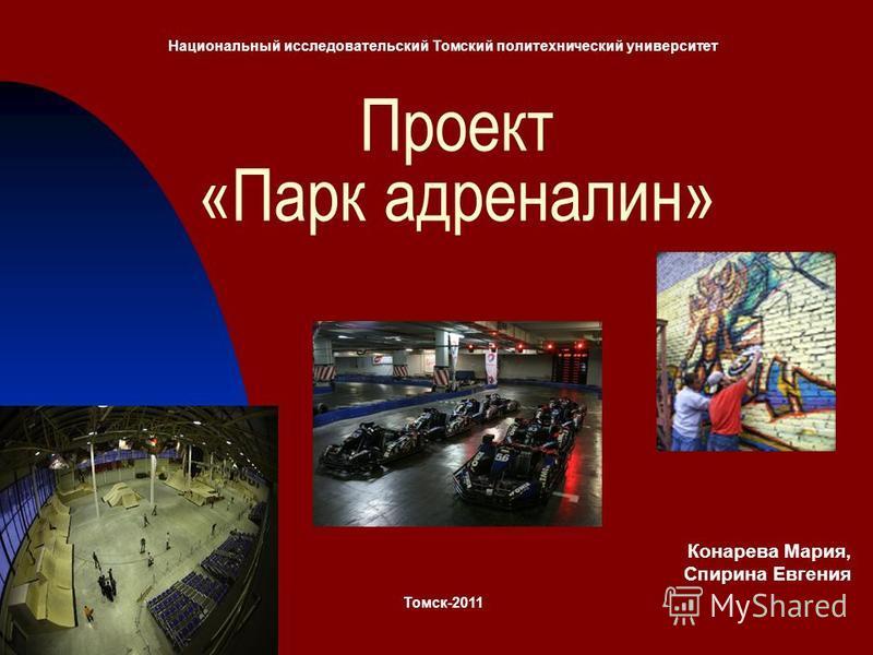 Проект «Парк адреналин» Национальный исследовательский Томский политехнический университет Томск-2011 Конарева Мария, Спирина Евгения