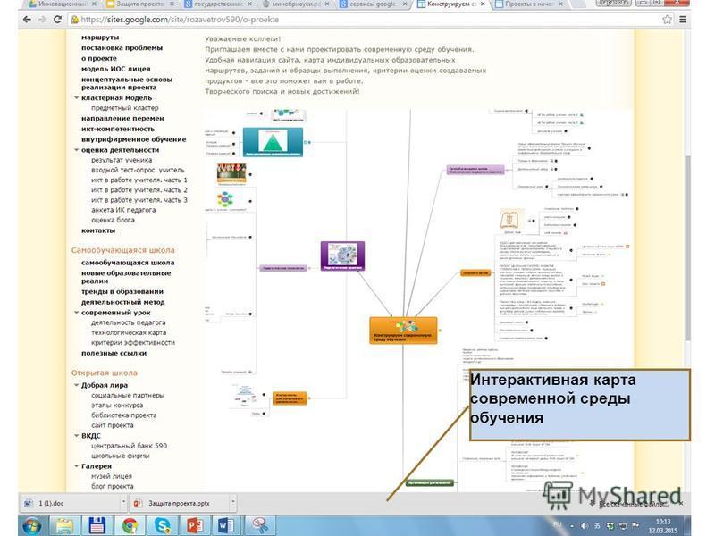 Интерактивная карта современной среды обучения