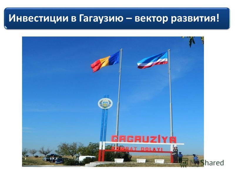 Инвестиции в Гагаузию – вектор развития!