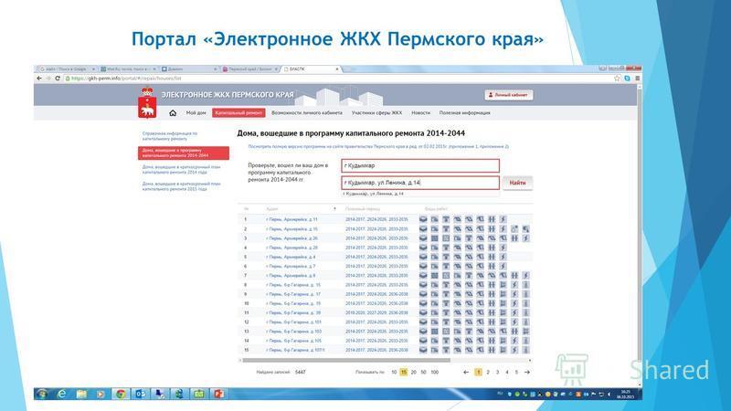 Портал «Электронное ЖКХ Пермского края»