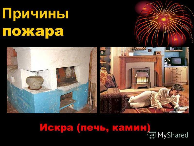 Искра (печь, камин) Причины пожара