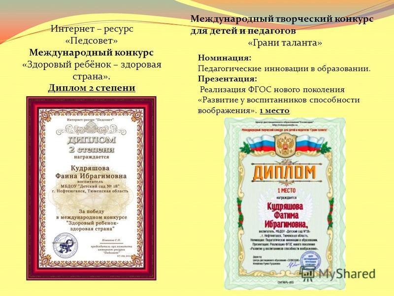 Всероссийского открытого конкурса педагогические инновации