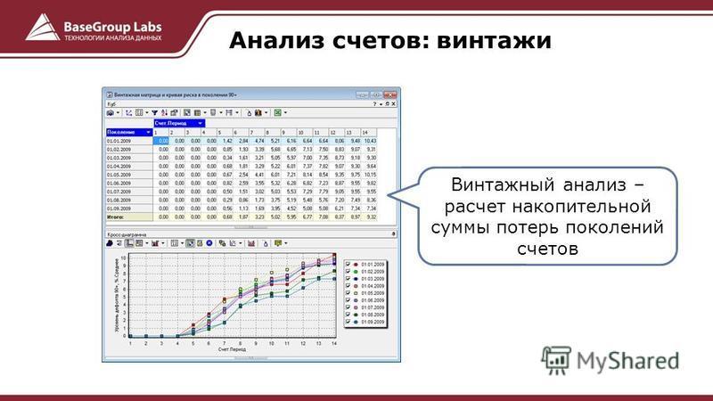 Анализ счетов: винтаж и Винтажный анализ – расчет накопительной суммы потерь поколений счетов