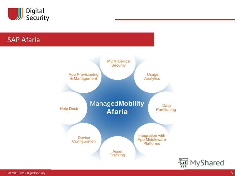 SAP Afaria © 20032015, Digital Security 3