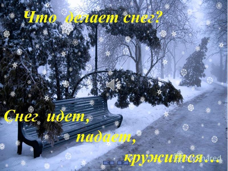 Снег идет, падает, кружится… Что делает снег?