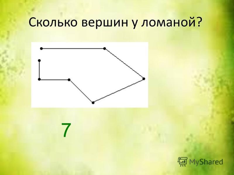 Сколько вершин у ломаной? 7