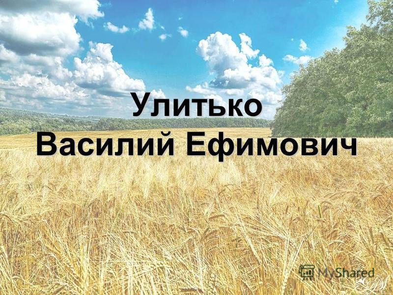 Улитько Василий Ефимович