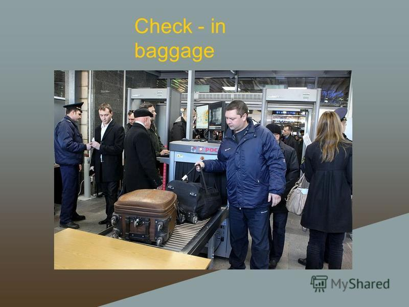 Check - in baggage
