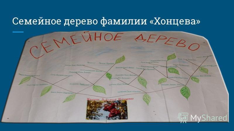 Семейное дерево фамилии «Хонцева»