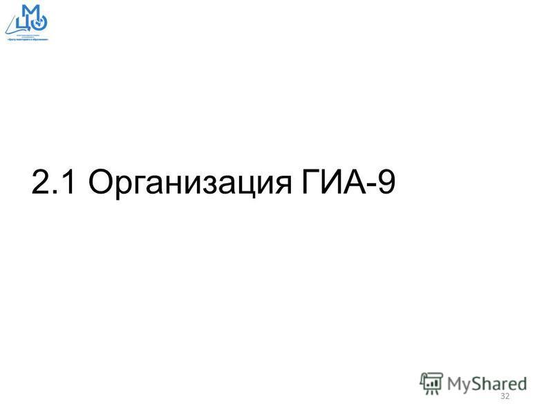 2.1 Организация ГИА-9 32