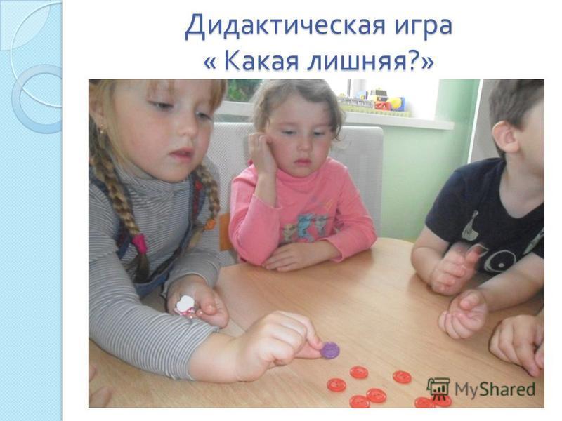 Дидактическая игра « Какая лишняя ?»