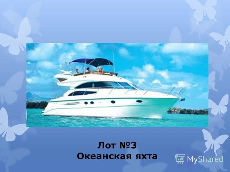 Лот 3 Океанская яхта