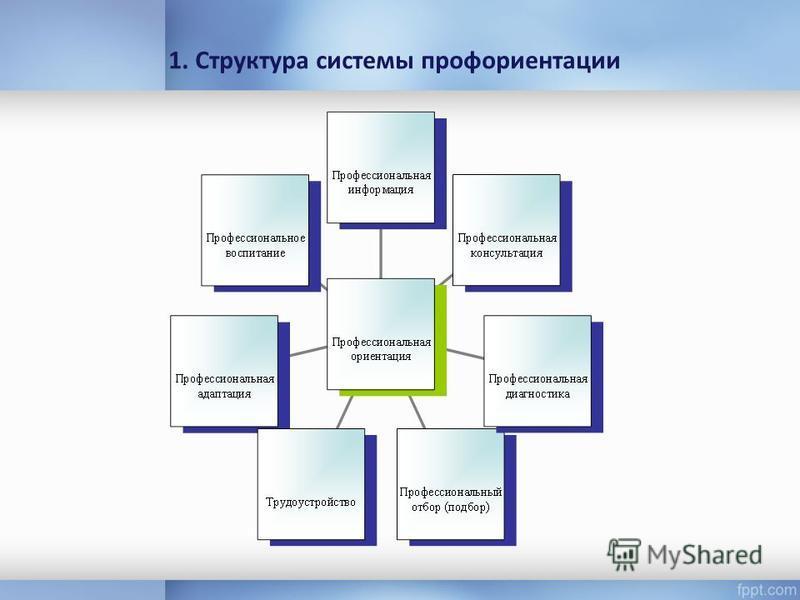1. Структура системы профориентации