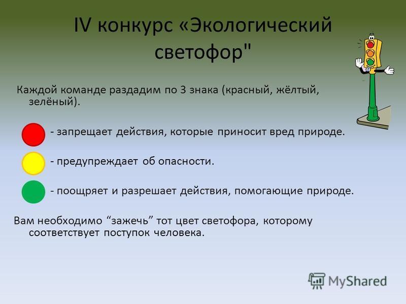 IV конкурс «Экологический светофор