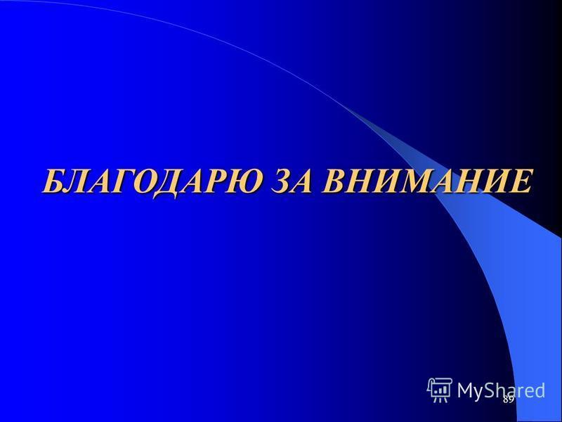89 БЛАГОДАРЮ ЗА ВНИМАНИЕ
