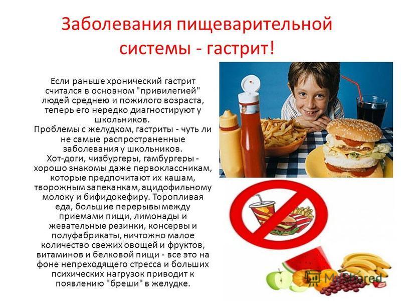 Заболевания пищеварительной системы - гастрит! Если раньше хронический гастрит считался в основном