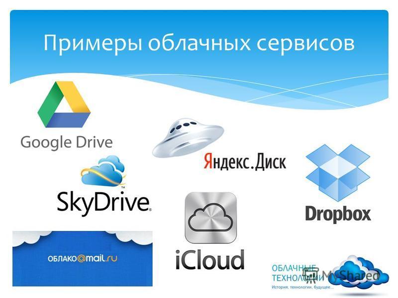 Примеры облачных сервисов