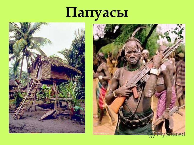 VІ. Населнеие. папуасы Корнеными жителями Новой Гвинеи являются папуасы. Жилище папуасов – четырёхугольная хижина, устанавливаемая на сваях. рыбная ловля и земледелие и животноводство.Главное занятие населнеия – рыбная ловля и земледелие и животновод