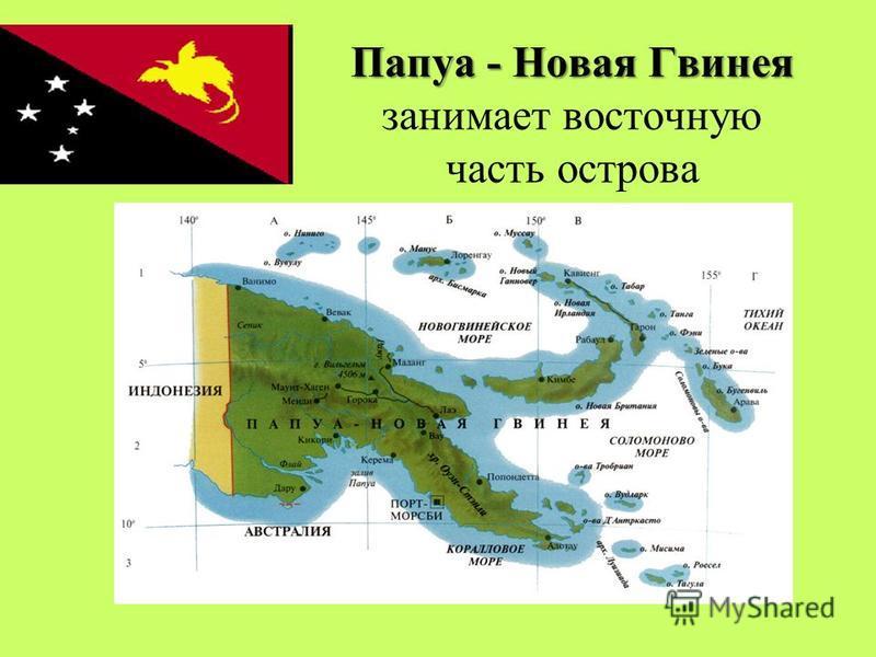 Остров Новая Гвинея принадлежит двум государствам.