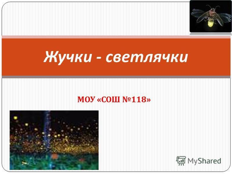 МОУ « СОШ 118» Жучки - светлячки