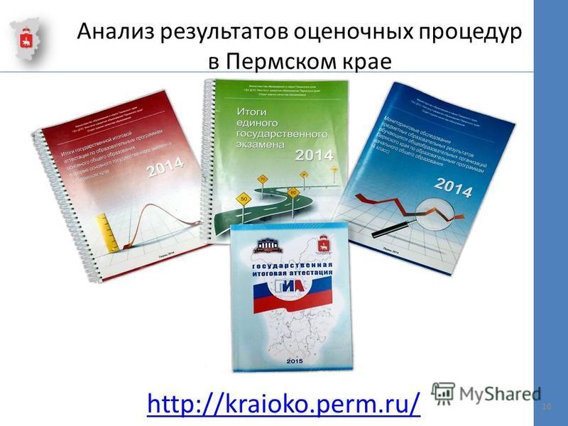 Анализ результатов оценочных процедур в Пермском крае 10 http://kraioko.perm.ru/