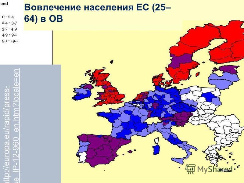 16 www.dvv-vhs.dewww.dvv-international.de http://europa.eu/rapid/press- release_IP-12-960_en.htm?locale=en Вовлечение населения ЕС (25– 64) в ОВ
