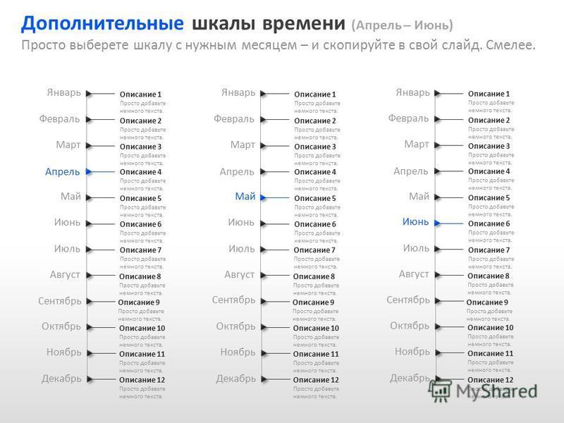 Slide GO.ru Сентябрь Январь Февраль Март Апрель Май Июнь Июль Август Октябрь Ноябрь Декабрь Описание 1 Просто добавьте немного текста. Описание 2 Просто добавьте немного текста. Описание 3 Просто добавьте немного текста. Описание 4 Просто добавьте не