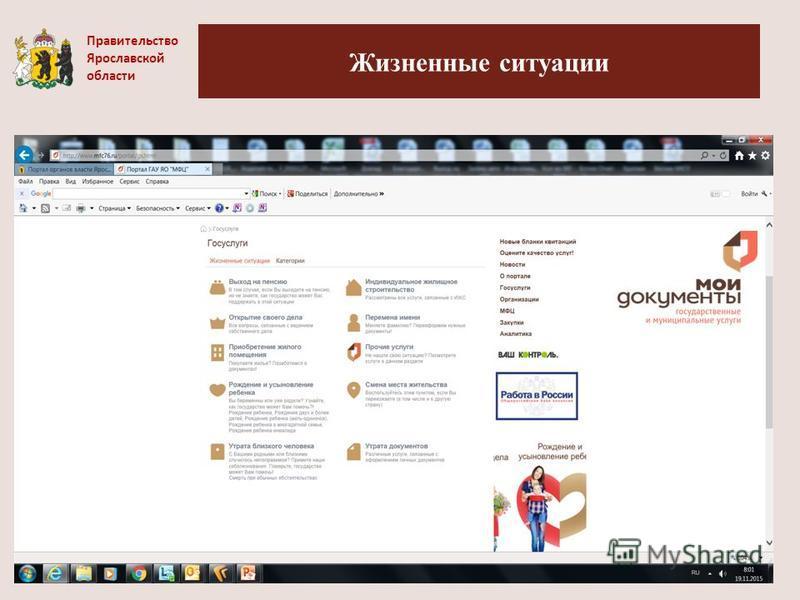 Жизненные ситуации Правительство Ярославской области