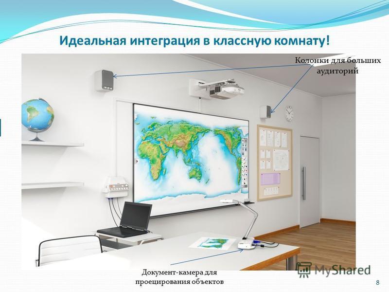 8 Идеальная интеграция в классную комнату! Документ-камера для проецирования объектов Колонки для больших аудиторий