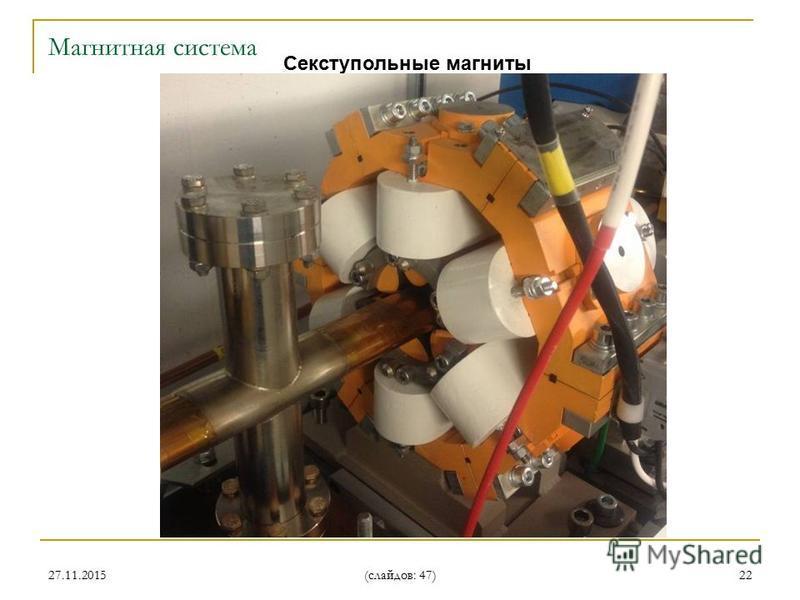 27.11.2015 (слайдов: 47) 22 Cекступольные магниты Магнитная система