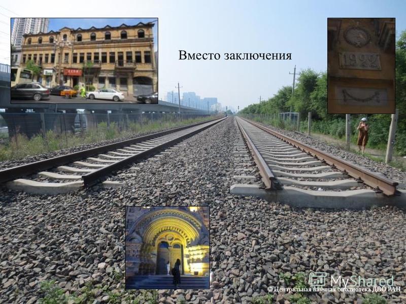 Вместо заключения © Центральная научная библиотека ДВО РАН