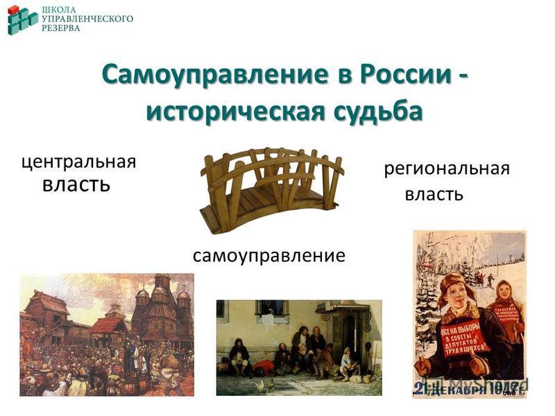 Самоуправление в России - историческая судьба центральная власть региональная власть самоуправление