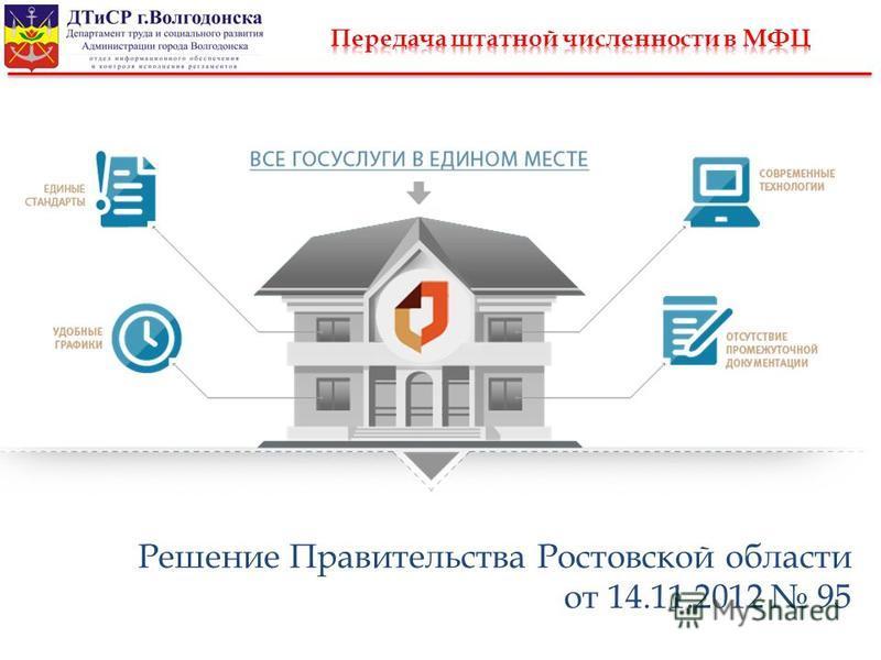 Решение Правительства Ростовской области от 14.11.2012 95