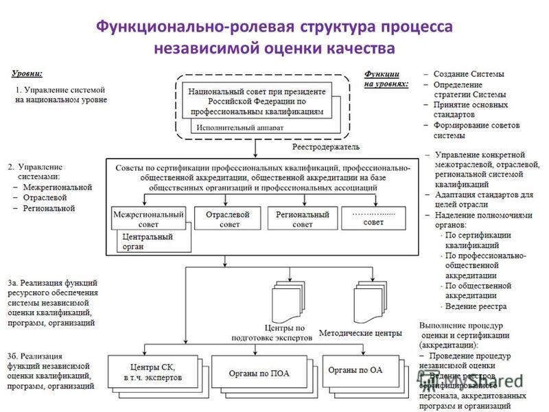 Функционально-ролевая структура процесса независимой оценки качества