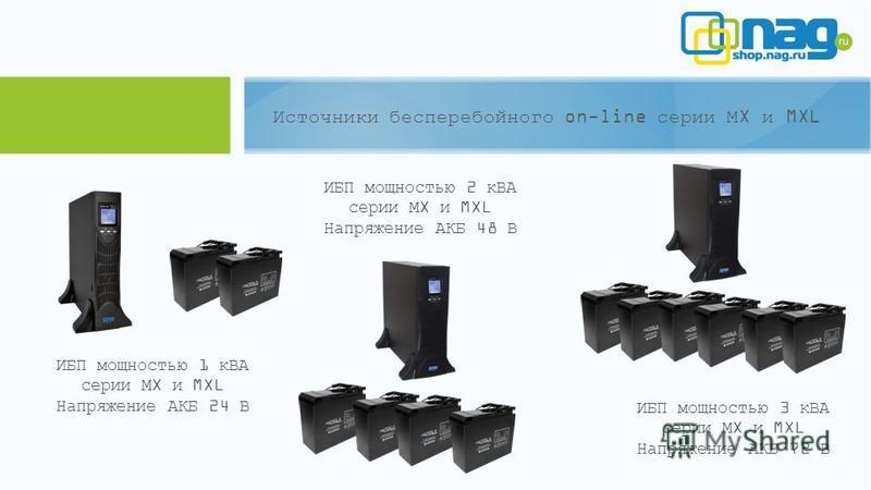 Источники бесперебойного on-line серии МX и MXL ИБП мощностью 1 кВА серии МX и MXL Напряжение АКБ 24 В ИБП мощностью 2 кВА серии МX и MXL Напряжение АКБ 48 В ИБП мощностью 3 кВА серии МX и MXL Напряжение АКБ 72 В