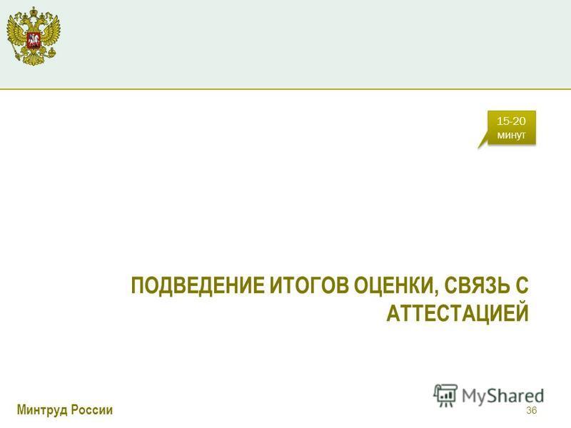 Минтруд России ПОДВЕДЕНИЕ ИТОГОВ ОЦЕНКИ, СВЯЗЬ С АТТЕСТАЦИЕЙ 36 15-20 минут