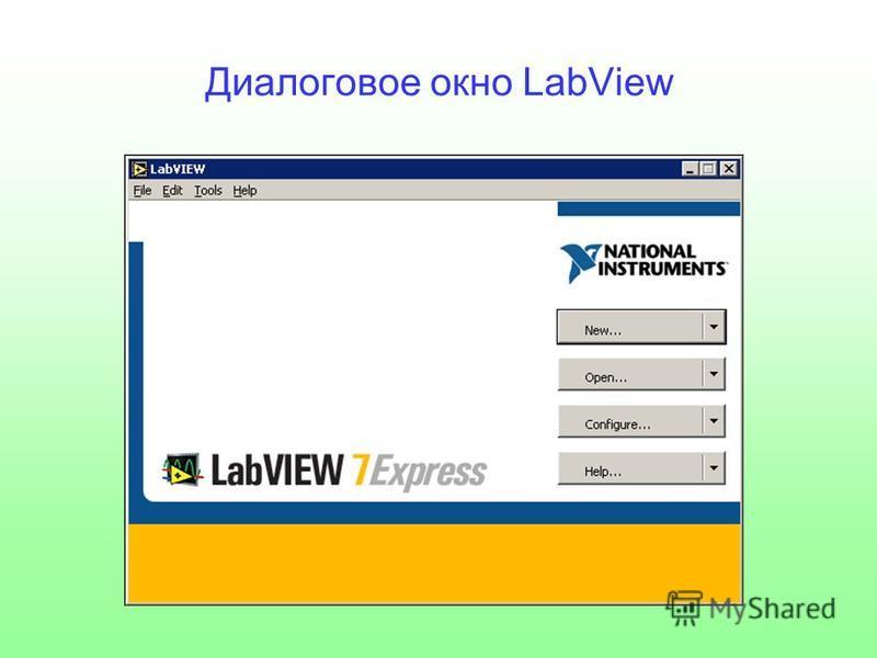 Диалоговое окно LabView